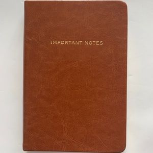 Other - 2/$30 Leather bound notebook - gold embossed quote